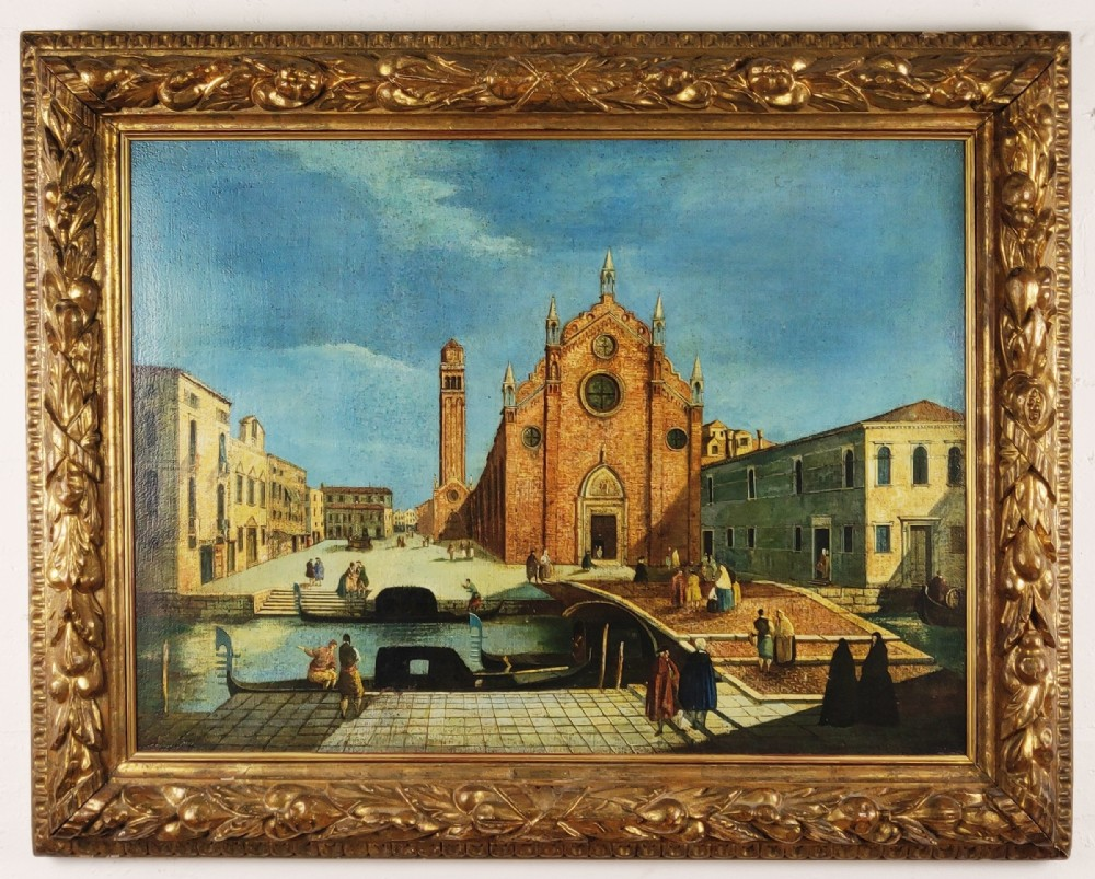 a superb early 18th century oil on canvas of venice scenery