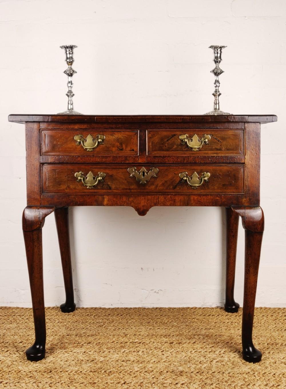 a small 18th century walnut lowboy