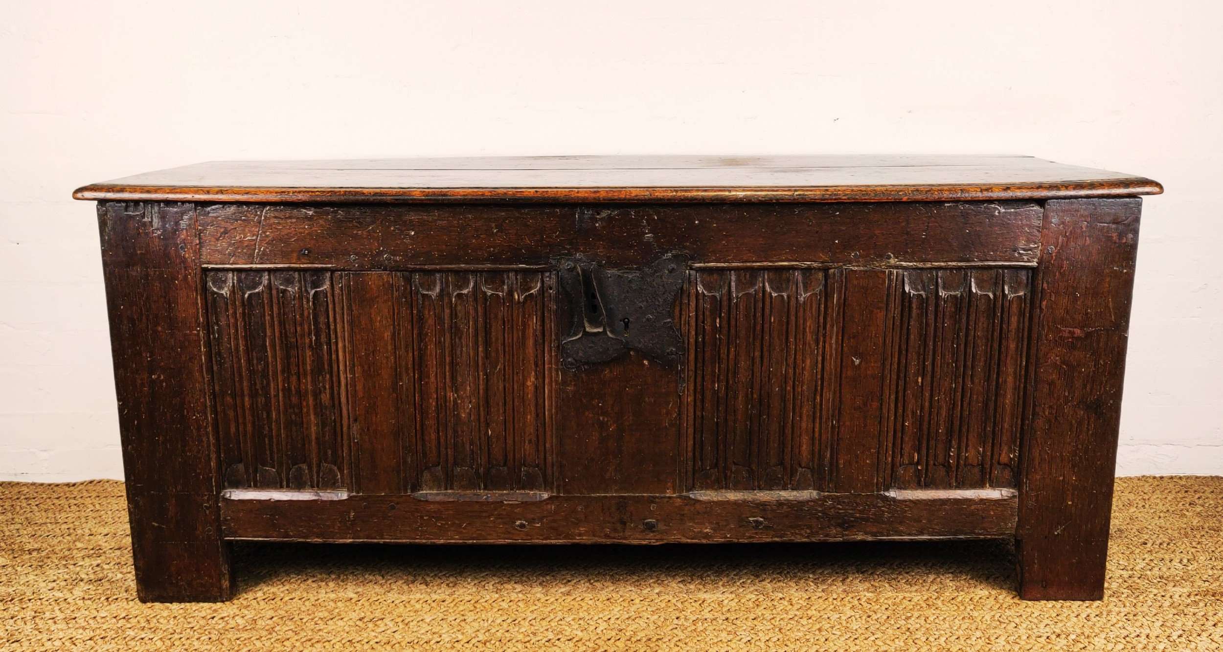 a large 16th century and later westphalian coffer
