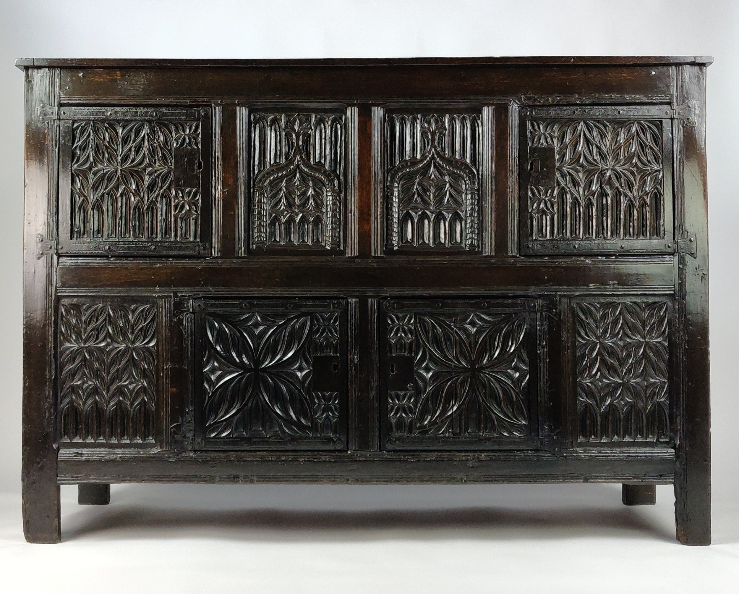 a superb early 16th century gothic cupboard